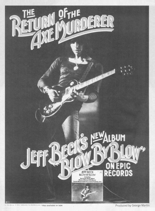 Jeff Beck - Blow by Blow - Vintage Music Ad