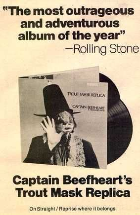 Captain Beefheart - Trout Mask Replica - Vintage Music Ad