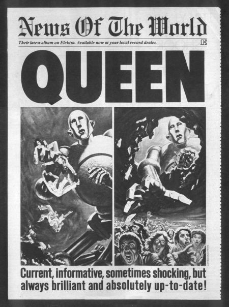 Queen - News of the World - Vintage Music Ad