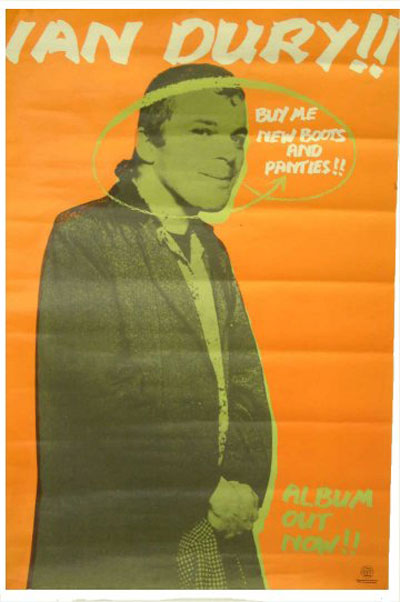 Ian Dury - New Boots and Panties - Vintage Music Ad3