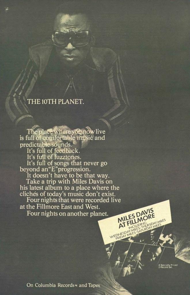 Miles Davis - At Fillmore - Vintage Music Ad