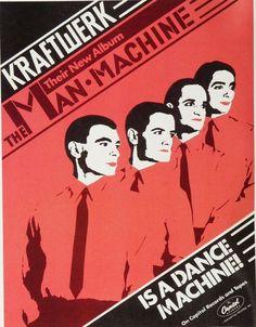 Kraftwerk - Man Machine - Vintage Music Ad