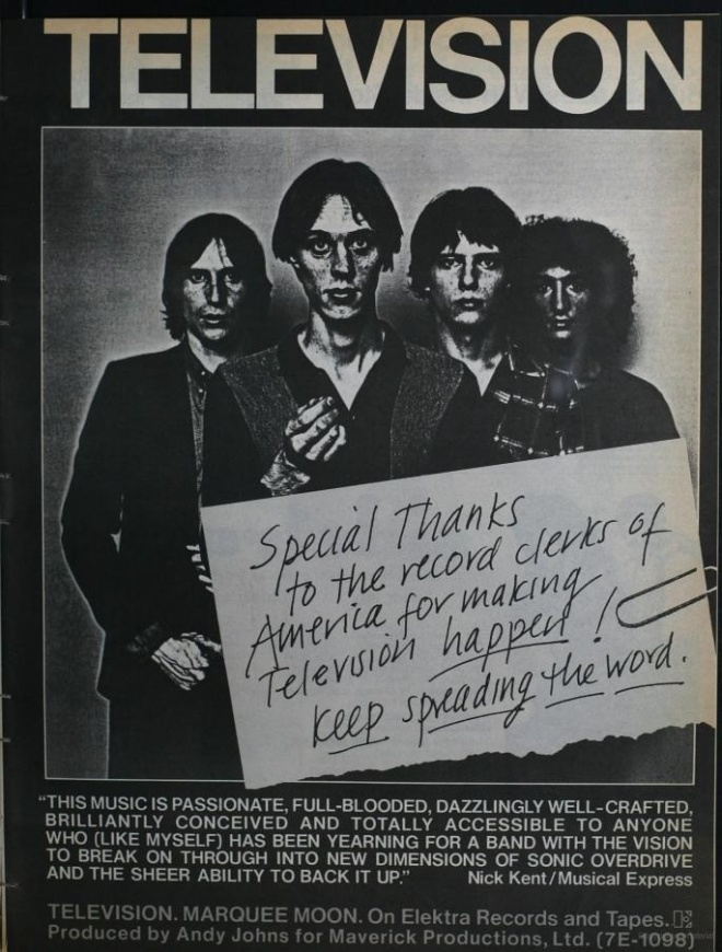 Television - Marquee Moon - Vintage Music Ad