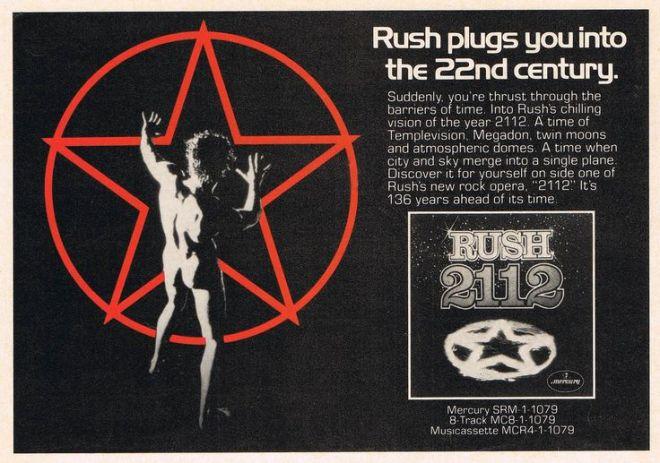 Rush - 2112 - Vintage Music Ad
