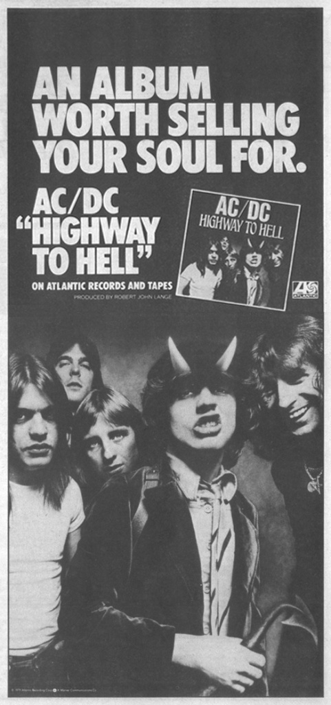 AC/DC - Highway To Hell - Vintage Music Ad