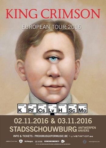 King Crimson European Tour 2016 Antwerp