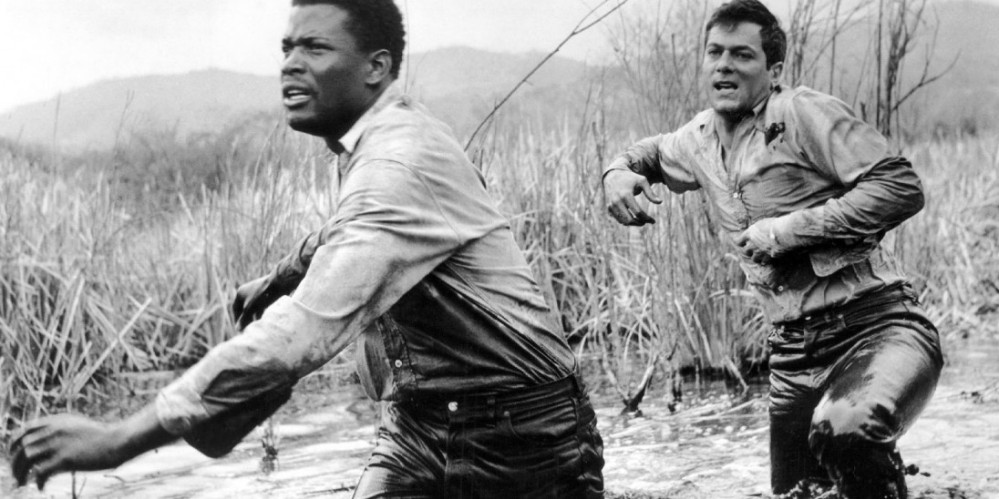 A scene from 'The Defiant Ones' (Stanley Kramer, 1958), starring Tony Curtis and Sidney Poitier, an escape film, just like Jarmush' Down By Law
