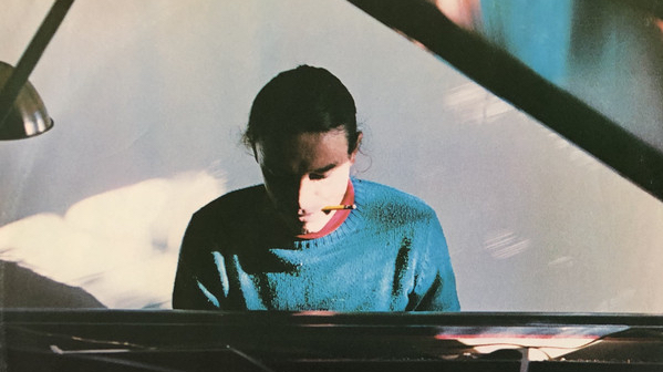 Jaco Pastorius composing Word of Mouth at the piano, with a pencil between his teeth