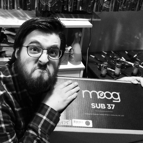 Superfluous Motor's Greg Chambers in a Moog mood