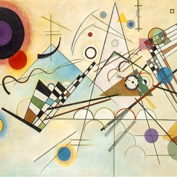 The cover of 'Scatterbrain' by Superfluous Motor.  Art connoisseurs will recognize Kandinsky's Composition VIII